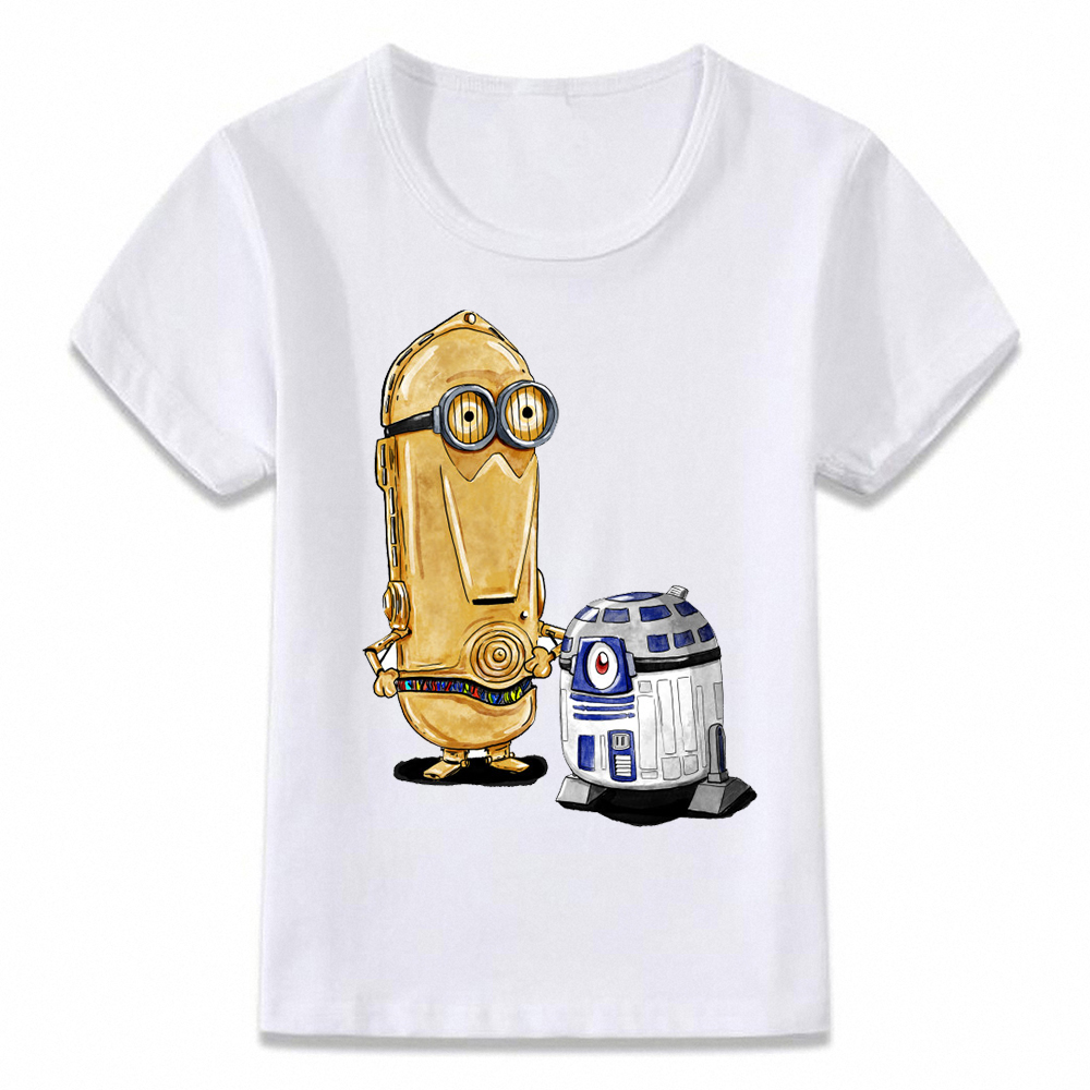 Kids T Shirt Minion R2d2 Cspo Deadpool Spock Wolverine Link Yoda T-shirt Boys And Girls Toddler Tee Oal125