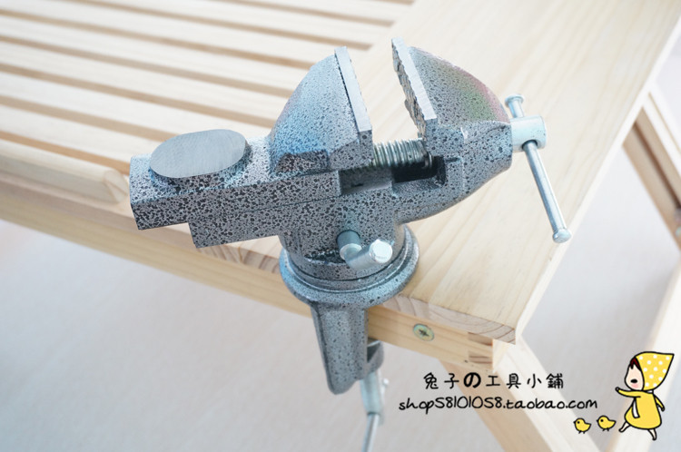 Captivating 65mm Small Mini Table Vise Small Cast Iron DIY 360 Degree Rotation Bench  Vise(China