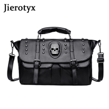 JIEROTYX Women Handbag Large Capacity High Quality Luxury Female Bag Hiphop Punk Style Fashion Shoulder Luggage Travel Bags