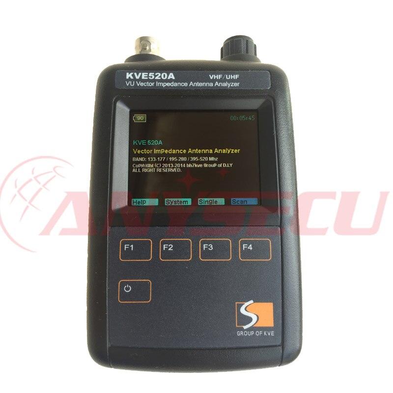 VHF UHF VU Vector Impedance Antenna Analyzer KVE520A with 5pcs Adapters