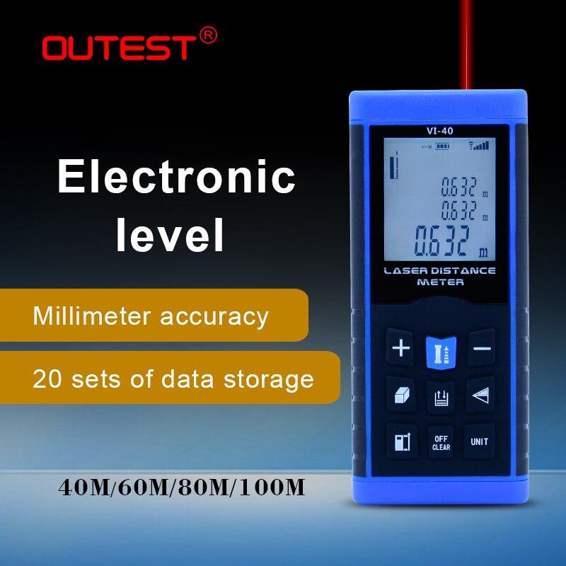 OUTEST Digital Distance Meter Laser Rangefinders Lazer Distance Meter 40/60/80/100m Measurement Laser Electronic Level Version
