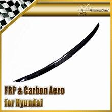 Автомобиль стайлинг Для Hyundai Veloster Углеродного Волокна Передний Бампер Центр Губ Крышка Подходит Только Turbo