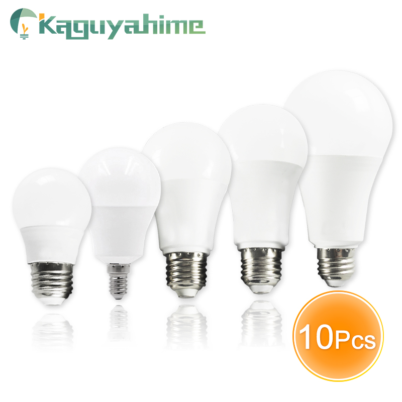 Kaguyahime 10pcs Dimmable Composite Aluminum LED Bulb Lamp E14 220V LED Light E27 3W 5W 6W 9W 12W 15W 20W Lampada Ampoule LED