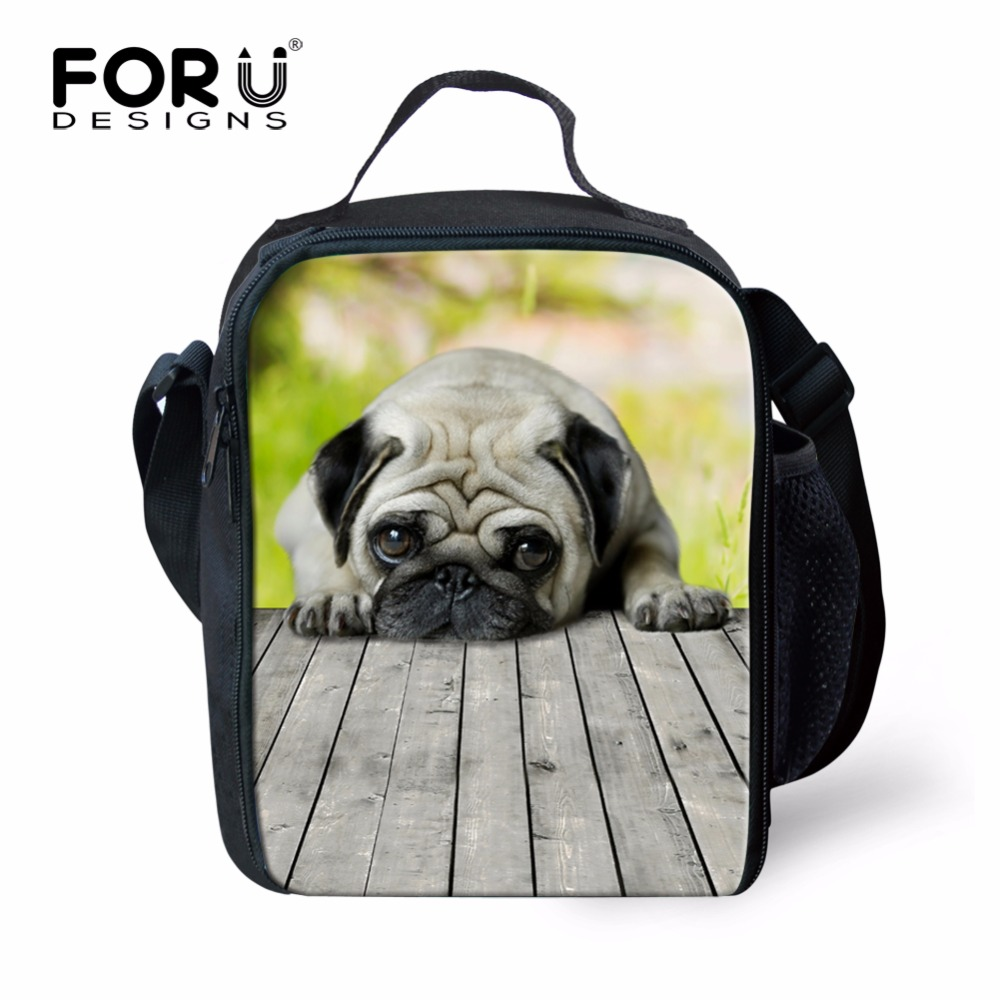 Image of: Chibi Forudesigns Kawaii Animals Dogs Thermal Insulation Bag Pug Bulldogs Pet Cooler Lunch Box For Kids Girls Travel Picnic Carry Bag Google Sites ᐊforudesigns Kawaii Animals Dogs Thermal Insulation Bag Pug