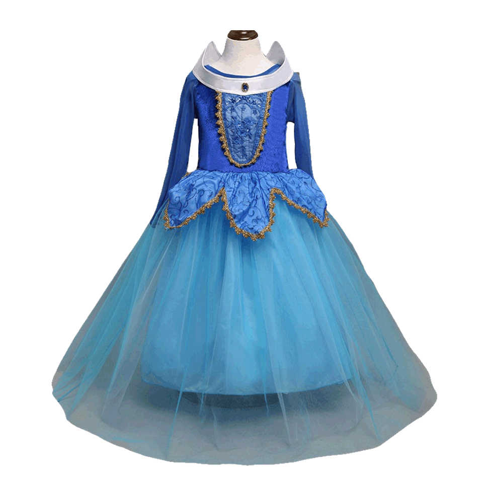 1149b446c402 Disney Frozen Kids fashion Dresses girls causal cotten Blend solid ripple  Pleated dress New cute children