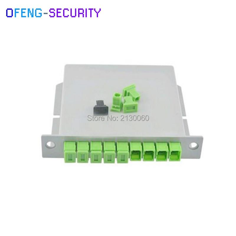 SC APC PLC Splitter 1X8 Splitter Fiber Optical Box FTTH PLC Splitter Box With 1X8 Planar Waveguide Type Optical Splitter