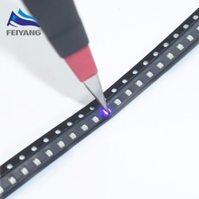 100 Pcs SAMIORE ROBÔ 0805 Roxo contas de luz SMD levou 2012 diodo emissor de Luz UV 3 V 390-400NM 2.0*1.2*0.8 MM