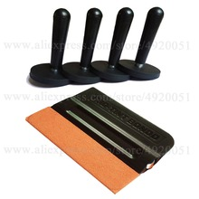 4PCS Magnetic Holders 1PC Suede Edge Scraper Car Wrapping Installation Tool Kit Vinyl Wrap Squeegee Solar Film Fixing Sucker K32