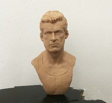 13CM 1/4 Scale Logan Howlett James Resin Unpainted Bust Models Battle Damage Version Pratice Tools Toys Gifts Collection