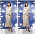 Mulheres Pant ternos curto elegante sereia Chiffon Plus Size mãe da noiva Vestidos Made In China Vestidos De Madrinha