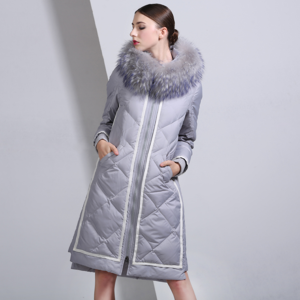 2016 Winter Jacket Women Down Jackets fashion Women's medium-long down coat plus size slim high quality Outerwear fur Hooded new fashion print 2017 winter women down cotton medium long jacket parka female hooded fur collar size m 3xl outerwear coatcq560