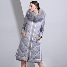 2016 Winter Jacket Women Down Jackets fashion Women's medium-long down coat plus size slim high quality Outerwear fur Hooded
