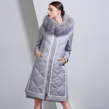 2016 Winter Jacket Women Down Jackets fashion Women's medium-long down coat plus size slim high quality Outerwear fur Hooded