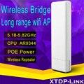 Qaulcomm Chip AR9344 300 M Portátil Mini Router AP Repetidor Cliente Puente router 5.8 GHz Wireless wifi de largo alcance al aire libre cpe