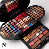 Miss Rose 130 Color Makeup Kit Eyeshadow Blush Lip Gloss Multifunctional Professional Cosmetic Tool Set Cylinder
