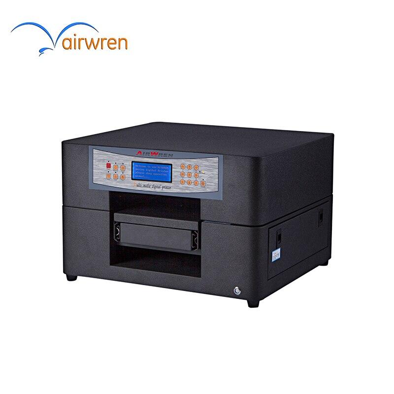 Nouveau modèle à plat imprimante PVC avec lampe UV 1440 dpi pour IC carte d'identité carte de visite en verre coque de téléphone impression t-shirt