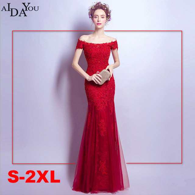 e5294622674 Women Red Slim vestido Evening long lace Dresses lace up floor length  Formal Special Occasion Dress. Special Occasion Dresses. Stacy Adams ...