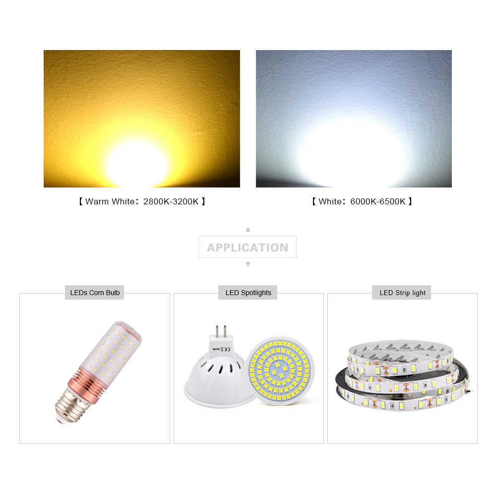 Oryginalna lampa Epistar SMD 2835 Chip LED diody LED do taśmy LED reflektor, żarówka wewnętrzna 0.5W 50-57 lm 3 V-3.2 V, 135mA