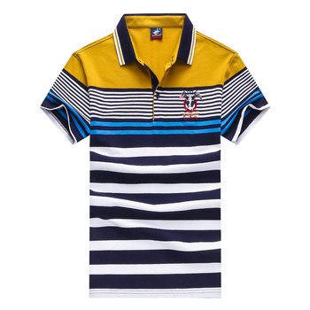 2018 Summer polo shirt men Tace&shark Brand polo shirt  Men's lapel zipper embroidered cotton Polomen black polo shirt