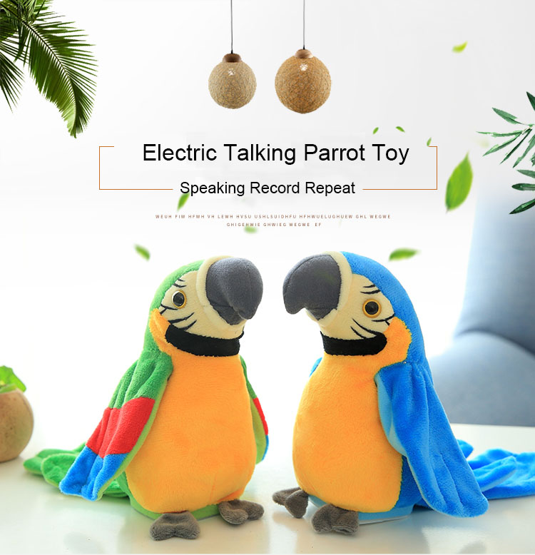 Electric Talking Parrot Plush Toy
