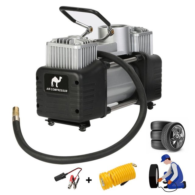 Tirol 12V Portable Heavy Duty Pump Electric Tire Inflator Air Compressor 150PSI