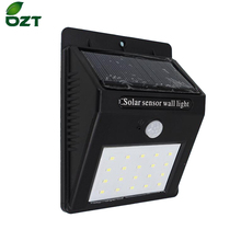 все цены на LED Solar Light 20 Leds Waterproof Outdoor Lamp PIR Motion Sensor Solar Wall Lamp Energy Saving Light Garden Decoration онлайн