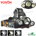 5000 Lumens Boruit Headlight  T6 +2R5 Adjustable4 Modes Rechargeable 3 LED Headlight 18650 led Headlamp Head lamp lampe frontale