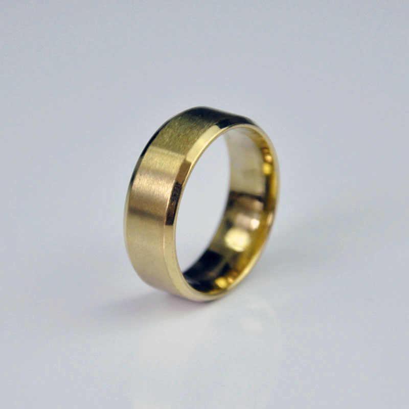 แหวนสแตนเลสผู้ชายแหวนไทเทเนียมสีดำคุณภาพสูงเครื่องประดับและผู้หญิง