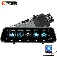 Bluavido 10 дюймов 4G Android Зеркало DVR gps ADAS Full HD 1080p тире камера Навигатор Авто регистратор зеркало заднего вида live мониторы