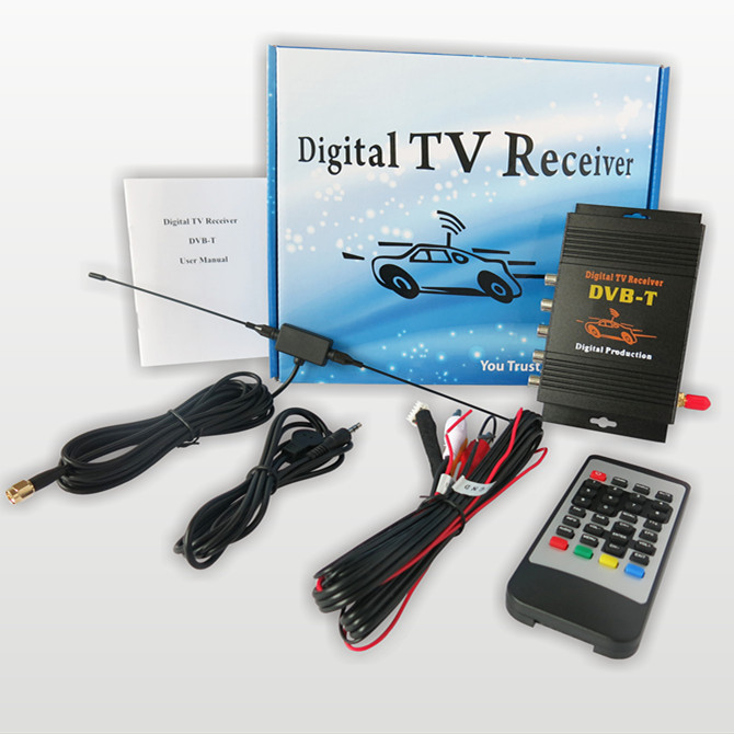 Hot! single-antenna mobile digital tv tuner receiver mpeg-4 car dvb-t with 4 Video output dvb t2 car 180 200km h digital car tv tuner 4 antenna 4 mobility chip dvb t2 car tv receiver box dvbt2