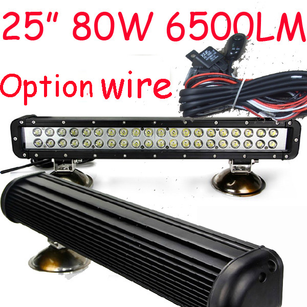 Free DHL/UPS/FEDEX ship! 25 80W,6500LM,10~30V,6500K,LED working bar;led offroad bar,Option wire harness,4x4,LED bar light free dhl ups fedex ship 41 150w 13000lm 10 30v 6500k led working bar led offroad bar option wire harness suv led bar light
