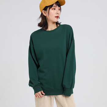 Jvzkass 2019 new spring Sweatshirt long-sleeved women loose solid color casual large womens pink pullover Z299