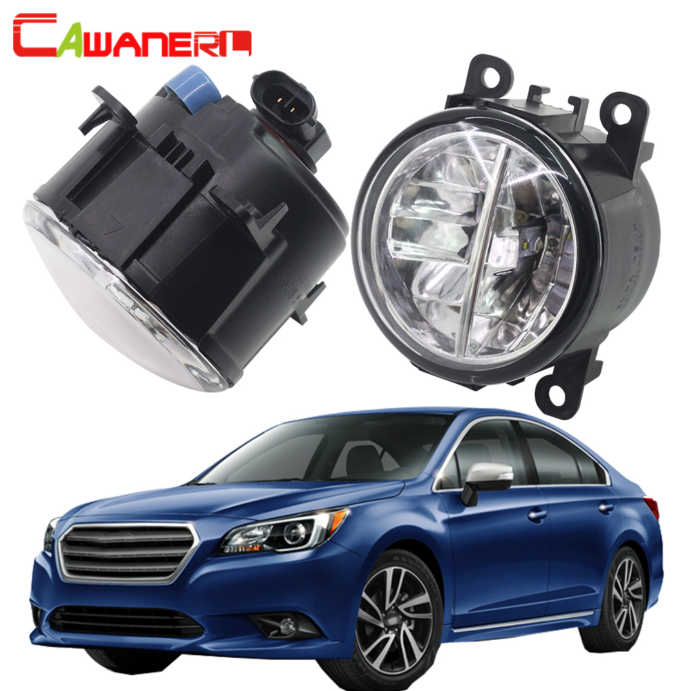 Cawanerl 2 Pieces Car Styling LED Fog Light 4000LM White 6000K DRL Daytime Running Lamp 12V For Subaru Legacy 2010 2011 2012 cawanerl for toyota highlander 2008 2012 car styling left right fog light led drl daytime running lamp white 12v 2 pieces
