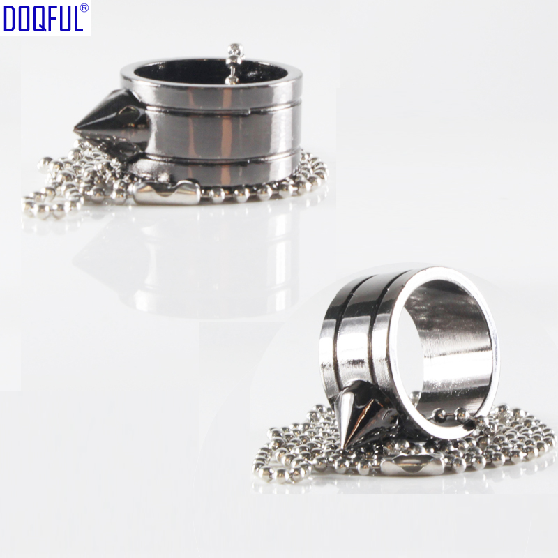 50pcs/lot Protective Necklace Tactical Finger Rings Bead Chains EDC Self Defense Outdoor Survival Weapons Fashion Ornaments
