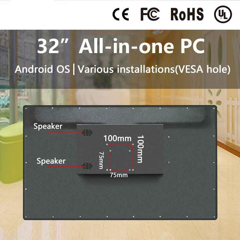 32 بوصة الكل في واحد جهاز كمبيوتر التلفزيون شاشة لمس اندرويد oem الكل في واحد