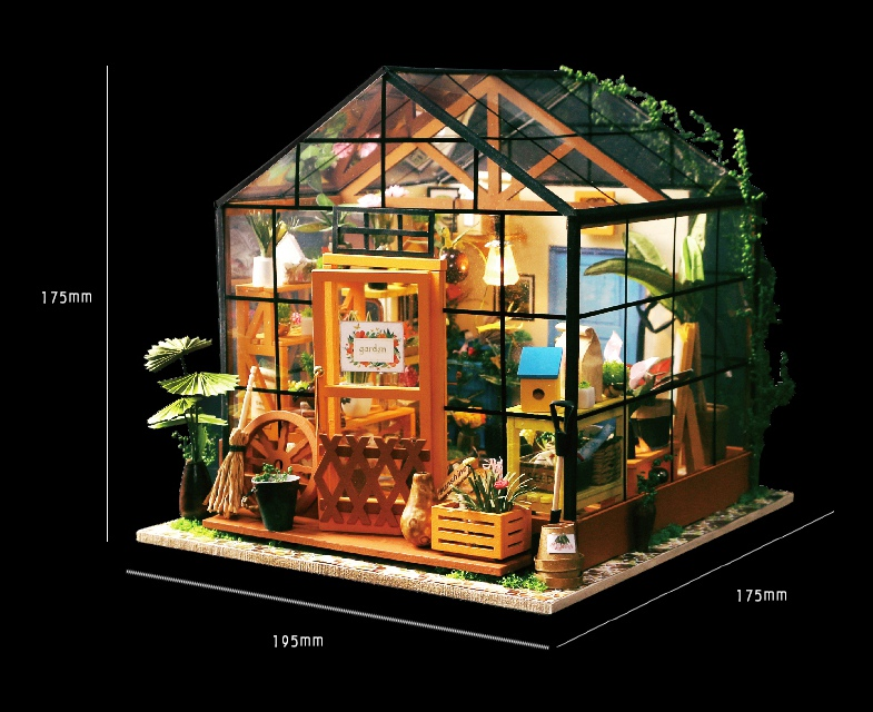 3D Puzzle DIY Handmade Tiny Furniture Miniature Wood Building model Home Decoration Kathy s Flower house