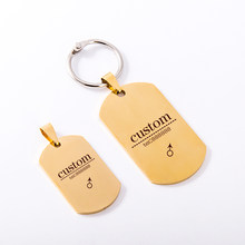 New Customs Stainless Steel Dog Cat Personalized ID Tags Pet Name Telephone Engraved Pendant Accessories ID Tags Without Collar(China)