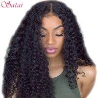 Satai Brazilian Deep Wave 3 Bundles With Closure Top Human Hair Bundles With Closure Natural Color