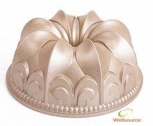 4 zoll oder 10 zoll Antihaft Aluminiumguss Fleur De Lis Bundt Pan Fleur De Lis Bundt Cake Pan Aluminium form