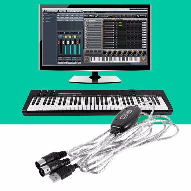US $3 59 15% OFF|2M New USB IN OUT MIDI Interface Cable Converter PC to  Music Keyboard Cord-in Computer Cables & Connectors from Computer & Office  on