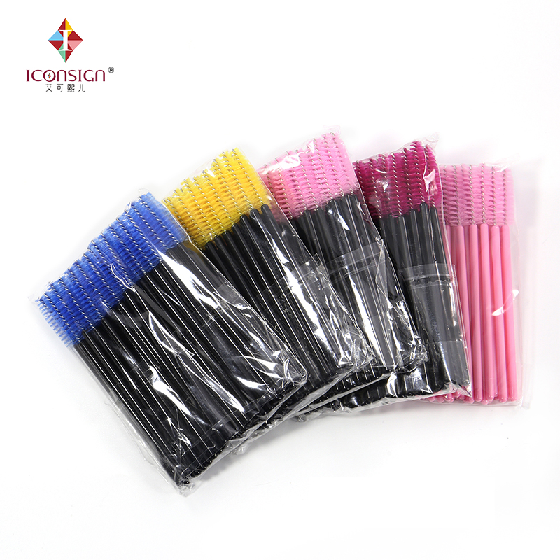 50Pieces/Bag Plastic Eyelash Brushes Eyelash Extension Tools Brush Mascara makeup brush  ...