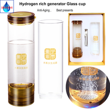 Japanese SPE H2 Hydrogen rich generator water Ionizer 600ML Anti-Aging USB Rechargeable Portable Healthy Cup IHOOOH maker цена и фото