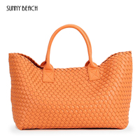 women Woven handbags bales 2018 winter new tide hand shoulder large capacity brand shopping Luxurious basket bag