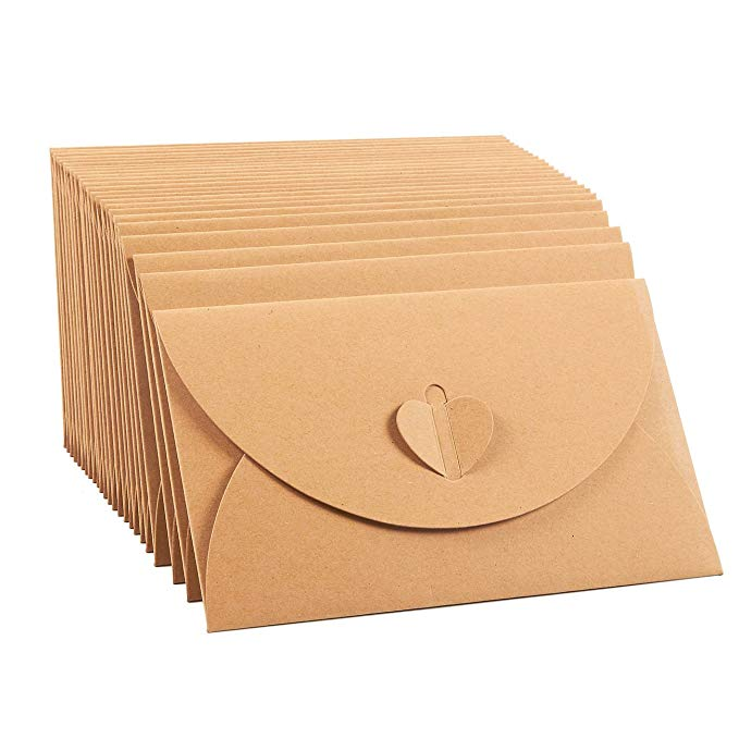 10pcs vintage Kraft paper envelope for invitations gift wedding envelopes decoration stationery paper school mini envelope 1
