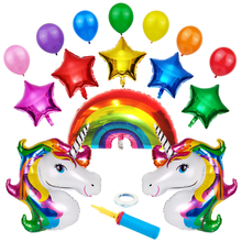 Best Selling Childrens Birthday Party Unicorn Theme Adult Baby Arrangement Supplies Single Angle Aluminum Balloon Bag