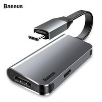Baseus USB HUB USB Type C to HDMI Adapter For Macbook Samsung S9 S8 Huawei Mate 20 P20 Pro Mini OTG Converter USB C HUB Splitter