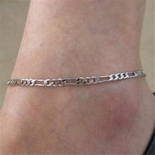 2016 Gold Silver Plated Metal Anklets For Women Summer Beach Anklet Bracelets font b Fine b