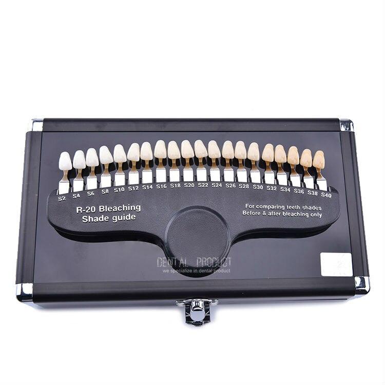 Guide d'ombrage de blanchiment des dents dentaires poêle en porcelaine dentaire classique 20 couleurs Guide d'ombrage 3D