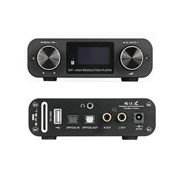 SMSL DP1 Digital Player USB SD Card 32bit Audio DAC with Built-in Headphone Amplifier High Resolution Music Player 2