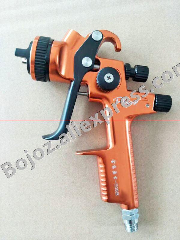 Haute qualité Pulvérisateur Orange-Édition Limitée 505B HVLP Pistolet à Peinture à alimentation Par Gravité 1.3mm W/T 600 ml tasse Pistal pistolet